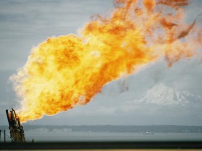 Oil Well Fire by W. E. Garrett