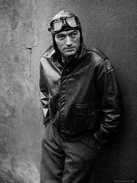 Gregory Peck Costumed as WWII American Air Forces Bomber Pilot for Twelve O'clock High by W. Eugene Smith