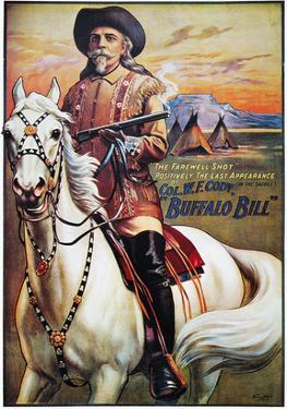 W F Cody Poster, 1910