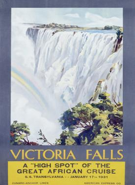 Cunard Line, Victoria Falls, 1931 by W. G. Bevington