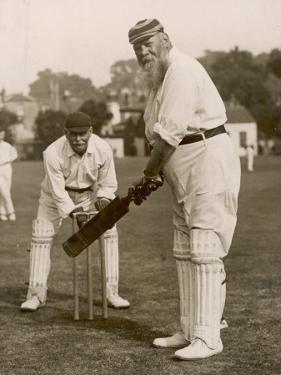 W.G. Grace Batting at Gravesend, 1913