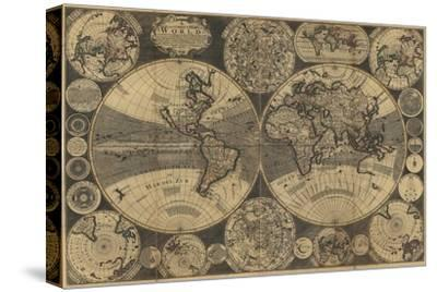 World Map with Planets
