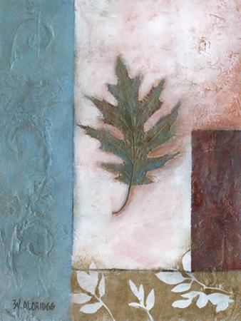 Painterly Leaf Collage I by W. Green-Aldridge