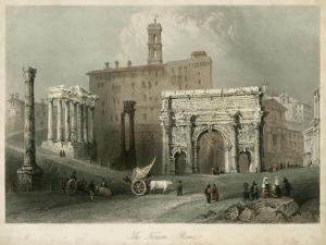 The Forum- Rome, Italy by W.H. Bartlett