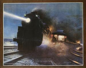 Pass in the Night, the Twentieth Century Limited of the New York Central Lines Poster by W.H. Foster