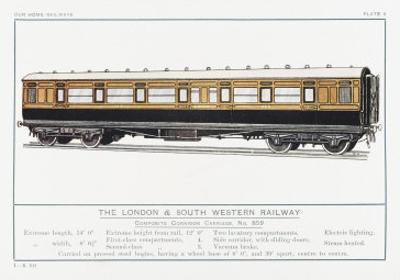 London and South Western Railway Corridor Carriage by W.j. Stokoe