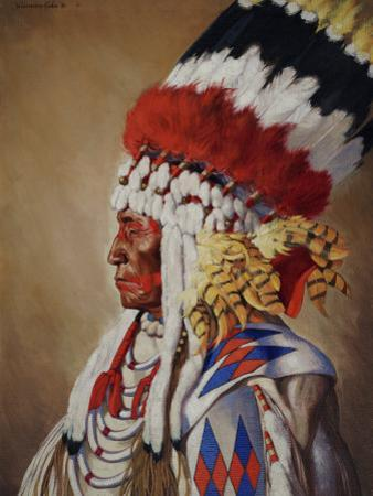 Portrait of Eagle Calf, a Native American Chief from Montana by W. Langdon Kihn