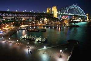 Campbells Cove and Sydney Harbour Bridge by W. Perry Conway