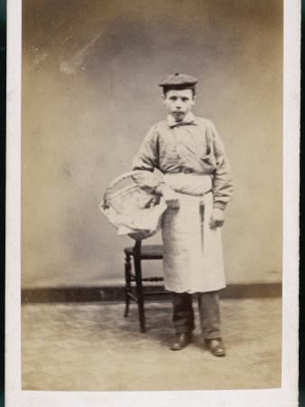Boy Carrying a Basket
