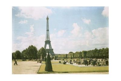 A Park Surrounding the Eiffel Tower