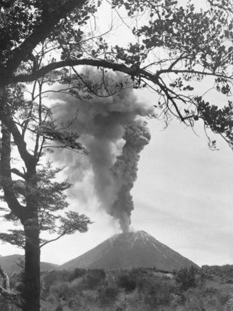 View of Ngauruhoe Volcano, Which Erupted in December 1934 by W. Robert Moore