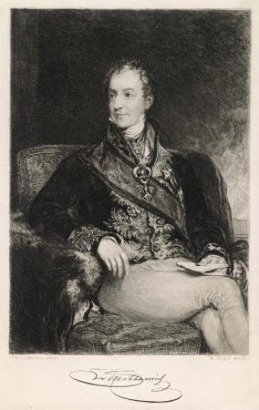 Clemens Lothar Wenzel Prince Metternich Austrian Statesman