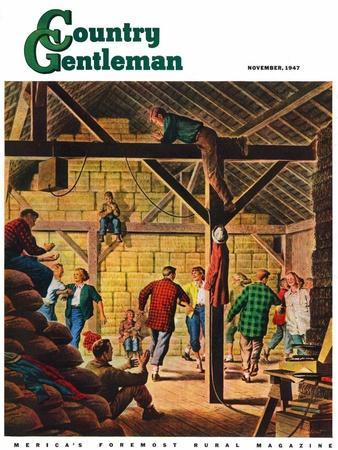 """""""Square Dance in the Barn,"""" Country Gentleman Cover, November 1, 1947"""
