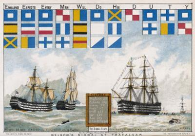 Before the Battle Nelson Sends His Famous Signal: England Expects Every Man to Do His Duty by W.w. May