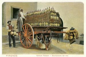 Wagon Loaded with Chianti Bottles