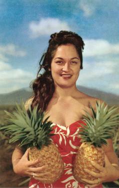 Wahini with Pineapples, Hawaii