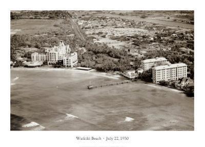Waikiki Beach, Hawaii July 22, 1930