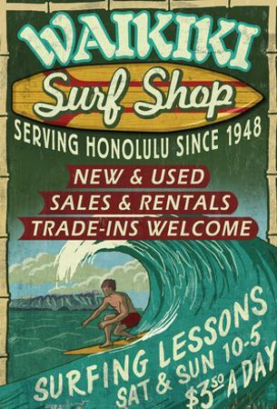 Waikiki Beach, Hawaii - Surf Shop