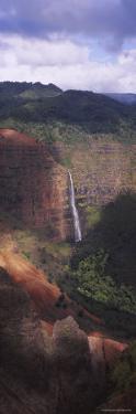 Waimea Canyon, Waipo'o Falls, Kauai, Hawaii, USA