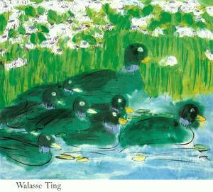 Eight Green Ducks by Walasse Ting
