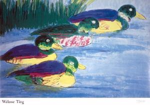Four Ducks by Walasse Ting
