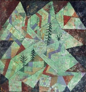 Wald Bau (Forest-Construction) by Paul Klee