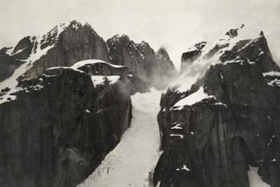 Ruth Glacier Winds it Way North to the South Base of Mount McKinley by Waldemar Grassi