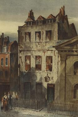 Sir Isaac Newton's House, St Martin's Street, Leicester Square by Waldo Sargeant