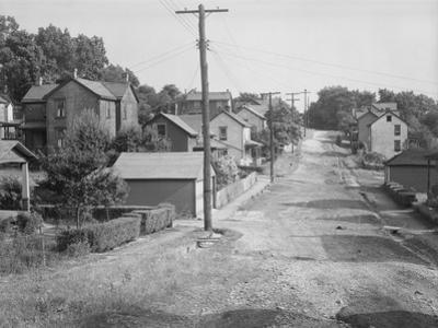 A Back street in Mount Pleasant, Westmoreland County, Pennsylvania, 1935 by Walker Evans