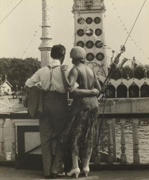 Couple at Coney Island, 1928 by Walker Evans