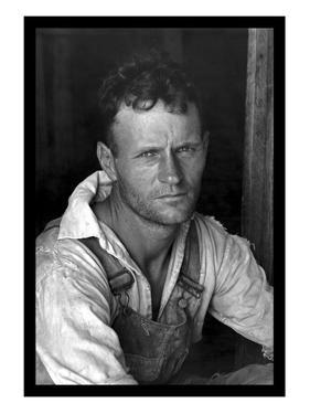 Floyd Burroughs, Cotton Sharecropper by Walker Evans