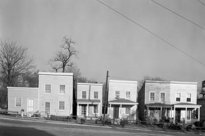 Frame houses in Fredericksburg, Virginia, 1936 by Walker Evans