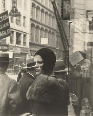 Girl in Fulton Street, New York, 1929 by Walker Evans