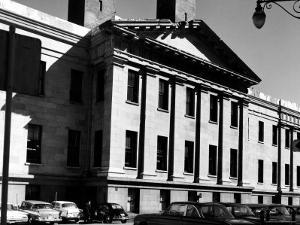 Greek Revival Facade, with Pilasters and Pediment, of the San Francisco Mint by Walker Evans