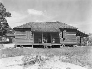Home of cotton sharecropper Floyd Borroughs in Hale County, Alabama, c.1936 by Walker Evans
