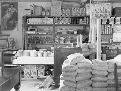 Interior of a general store in Moundville, Alabama, 1936 by Walker Evans