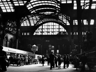 Interior View of Penn Station by Walker Evans