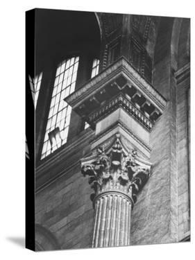 Ornate Classical Corinthian Column in Interior of Penn Station by Walker Evans