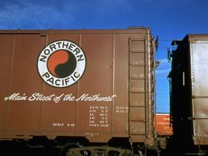 Railroad Box Car with Logo of the Northern Pacific Railroad by Walker Evans