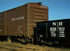 Railroad Box Cars by Walker Evans
