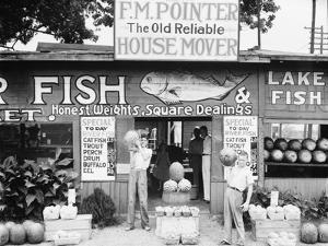 Roadside stand near Birmingham, Alabama, 1936 by Walker Evans