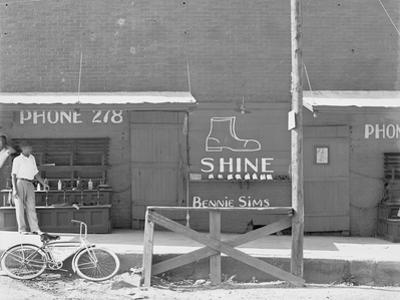 Shoeshine stand in the Southeastern U.S., c.1936 by Walker Evans