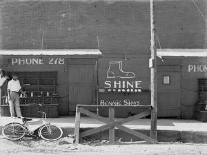Shoeshine Stand, Southeastern U.S. by Walker Evans