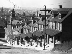 Stepped Row Houses by Walker Evans