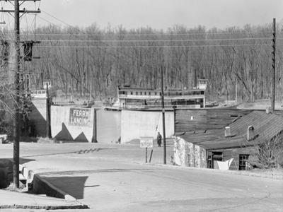 The Ferry landing in Vicksburg, Mississippi, 1936 by Walker Evans