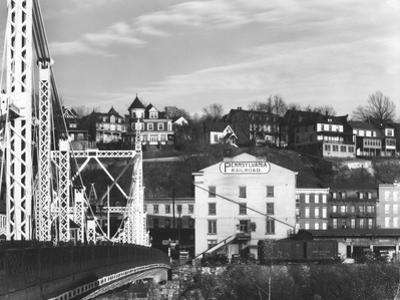 View of a bridge and houses in Phillipsburg, New Jersey, seen from Easton, Pennsylvania by Walker Evans