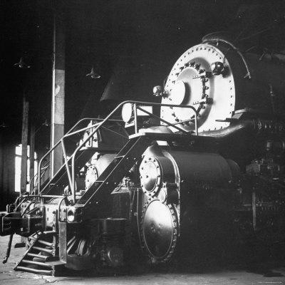 Y-6 Compound Mallet Freight Steam Locomotive Belonging to the Norfolk and Western Railway