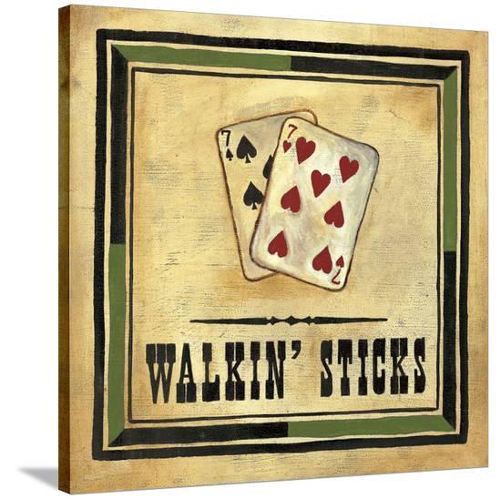 Walkin' Sticks-Jocelyne Anderson-Tapp-Stretched Canvas Print