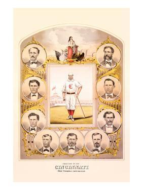 First Nine of the Cincinnati (Red Stockings) Base Ball Club by Walkley & Moellman Tuchfarber
