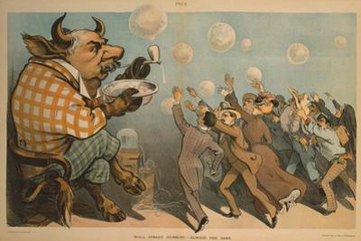 Wall Street Bubbles - Always the Same Cartoon